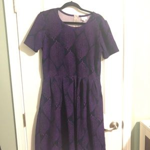 Woman's LuLaRoe size XXL purple and black dress